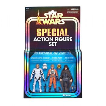 Star Wars The Vintage Collection SDCC 2019 Luke Skywalker Jedi Destiny Action Figure 3 Pack